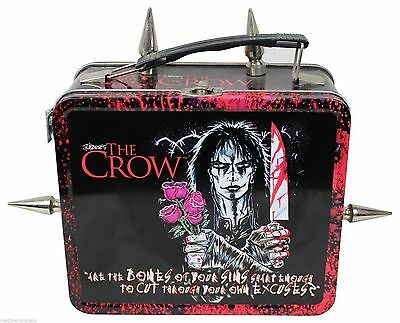 THE CROW Custom METAL LUNCHBOX James O'Barr 2003 Unique OOAK Spikes Goth Gothic