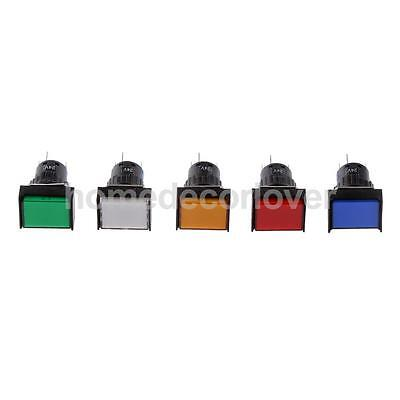 5 Pin 12/24V 24/19*19MM LED Light Mini Power Reset Switch for Contactor