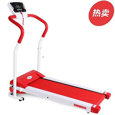Electric Motorized Treadmill 350cm Red Belt Electric Fitness Home Easy Folding