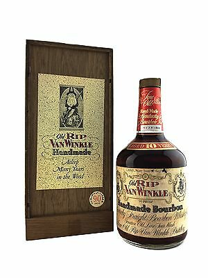Old Rip Van Winkle 10yo Hand made Bourbon 750ml - 45%alc. Bottled in 1983+ RARE! • AUD 2,699.00