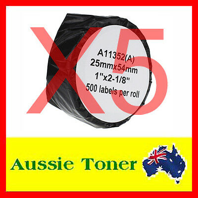 5x 11352 SD11352 Compatible Dymo LW Label Roll 25mm x 54mm LabelWriter 450
