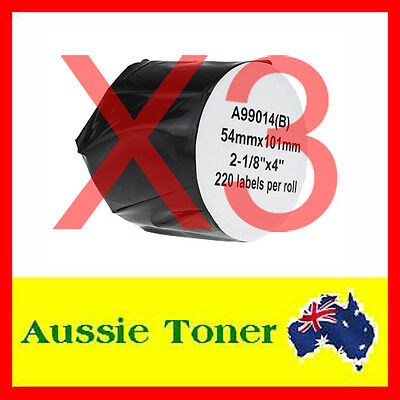 3x Compatible Label Roll For Dymo LW 99014 SD99014 54mm x 101mm Labelwriter 450