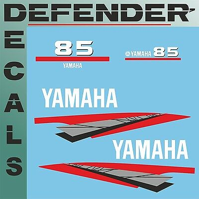 Yamaha 85 HP Two 2 Stroke outboard engine decal sticker kit reproduction 85HP