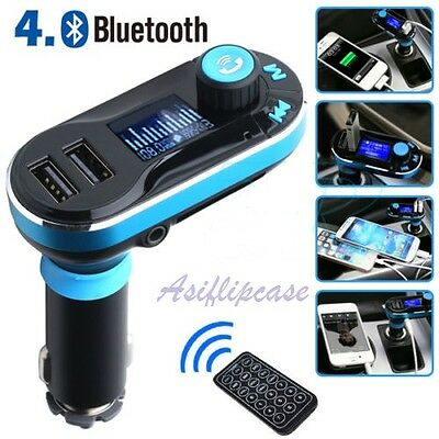 Car Kit Handsfree Bluetooth FM Transmitter, MP3 Player USB SD LCD Remote
