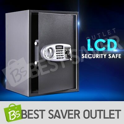 Electronic Lock Security Safe Box Storage Office Home Deposit with LCD Jewelry