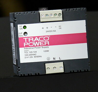 Traco Power Supply, 24v 5A, switched mode, RS 457-3035, new in box, 1/3 off