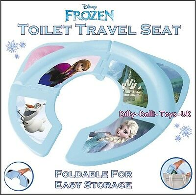 NEW Disney Princess Frozen Foldable Toilet Travel Seat Potty Training On The Go