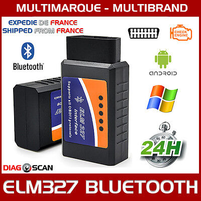 Elm327 Bluetooth Interface De Diagnostic Multimarque Obd2 Scanner Android Pc