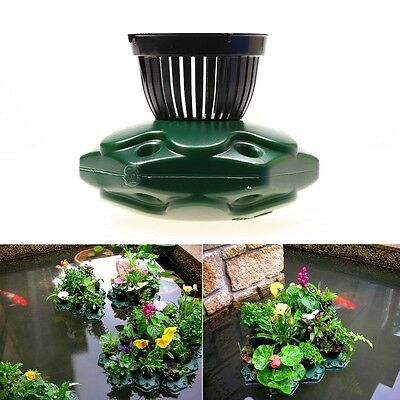 Aquaponics Floating Pond Planter Pot Kit - Hydroponic Island Gardens Features