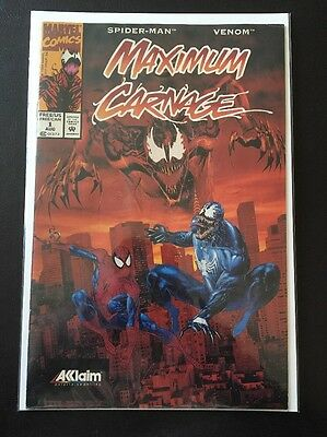 Maximum Carnage 1 Rare Promo Video Game Variant Akklaim  - Fine - Marvel 1994