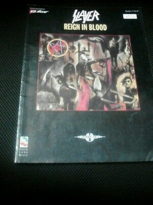 Slayer Reign in Blood guitar tab book