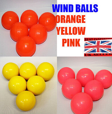 CRICKET WIND BALL OUTDOOR INDOOR Youth TRAINING PROFESSIONAL PINK,ORANGE,YELLOW