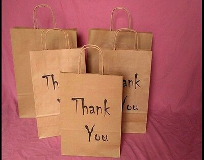 Gift Small Paper Printed Bags Small Wedding Christmas -Thank You, Two Sizes