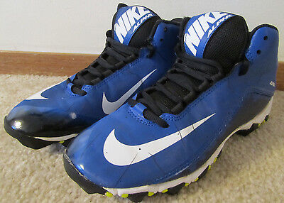 Nike Big Kids 719953 Alpha Shark Size 5.5Y Youth Football Cleats Shoes Excellent