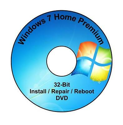 Windows 7 Home Premium 32-Bit Installation & Format HDD DVD Disc