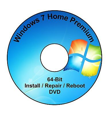 Windows 7 Home Premium 64-Bit Installation & Format HDD DVD Disc