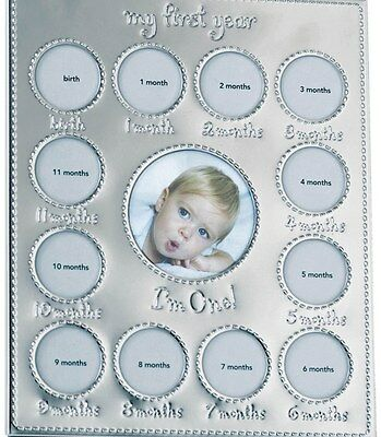 NIB CARTERS Little Giftables Baby's First Year 12 Month Picture Frame