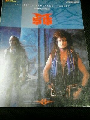 McAuley Schenker Group MSG perfect timing guitar tab book