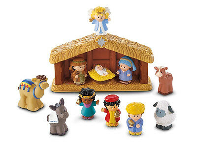 Fisher-Price Little People Krippe Weihnachtskrippe Nativity Set Christmas Story