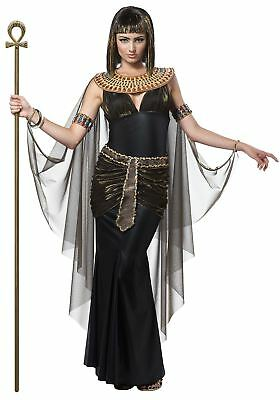 Cleopatra Egytptian Fancy Dress Costume Goddess Queen Ladies Outfit