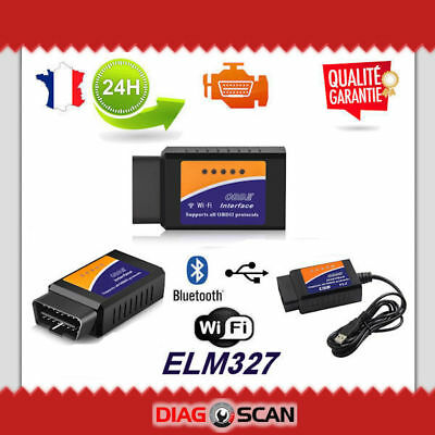Interface diagnostic multimarque ELM327 USB BLUETOOTH WIFI PRO ELM 327 OBDII HQ
