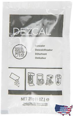 Urnex Dezcal Activated Descaler, 1-Ounce Packets, 100-Count, New, Free Ship