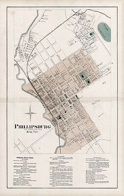 1874 Map of Phillipsburg Centre County Pennsylvania