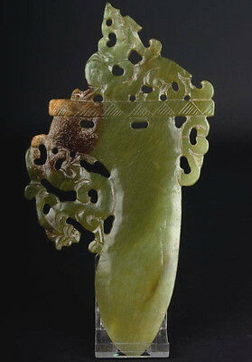 China 20. Jh. Klinge - A Chinese Carved Hardstone 'Jade' Blade - Chinois Cinese