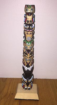 Seattle Pole PNW Native Totem Cedar Hand Carved Painted Rick T Williams Legend