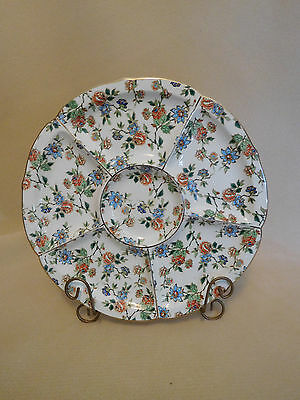 Vintage Eton by Erphila, Cheery Chintz, Germany Divided Serving Plate