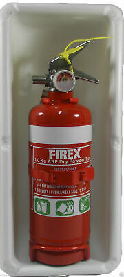 WHITE Fire Extinguisher Box Caravan Motorhome 1KG Parts Accessories New Boat