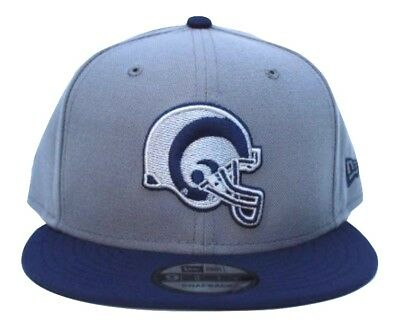 040480ab365 NFL L.A. RAMS New Era Retro Helmet Logo 9FIFTY Snapback Hat - Royal ...