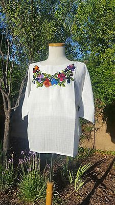 Bohemian embroidered small tunic blouses guatemala maya oaxacan many colors