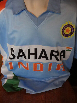 Like New-Cricket Shirt-Sahara India-size Large Board of Control for Cricket