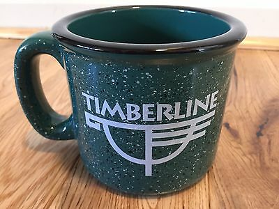 Timberline Lodge Mt. Hood Oregon Collector's Coffee Mug - Speckled Green