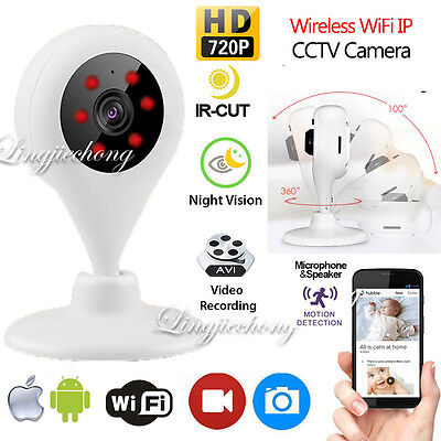 Wireless 720P WiFi IP Camera Network Security Video Smart Audio Night Vision Cam