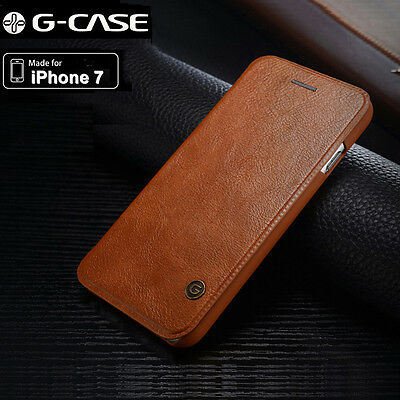 Genuine G-case Slim Leather Wallet Card Case Flip Cover For iPhone 7 / 7 Plus