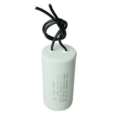 CBB60 AC 450V 16uF Polypropylene Film Coated Motor Run Capacitor White