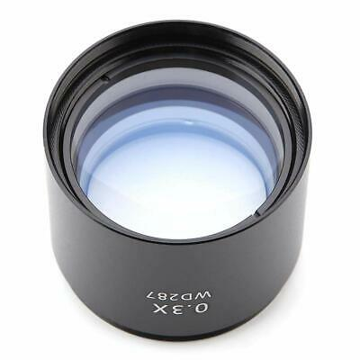 """WD287 0.3X Auxiliary Lens Barlow Lens for Stereo Microscope 1-7/8"""" (48mm) Thread"""