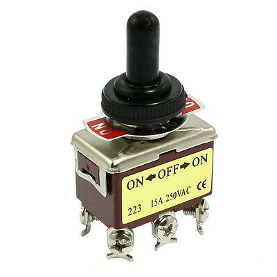 AC 250V 15A 6 Pin DPDT On/Off/On 3 Position Mini Toggle Switch