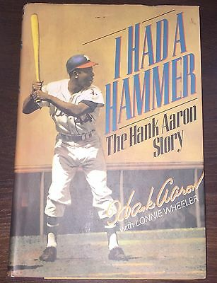 HANK AARON Autographed Signed I HAD A HAMMER RARE 1st/1st Edition Baseball Book