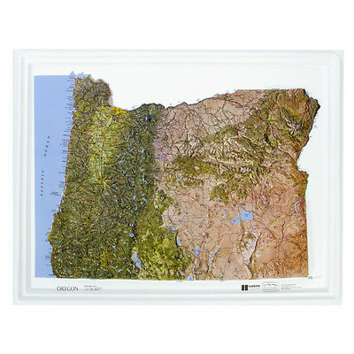 Hubbard AMEP Oregon Raised Relief Map NCR Style- unframed