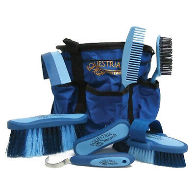 Equestria Sport Series Boxed Grooming Set, No. 2107 Desert Equestrian  Blue