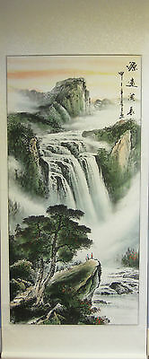 Chinese hand-painted scroll ink painting landscape wall or home decoration