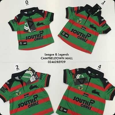 SOUTH SYDNEY RABBITOHS 2016 NRL ISC Official Toddler Baby Home Jersey BNWT 2