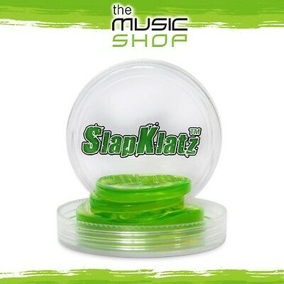 New Slapklatz Drum Damper Gels - 4 Pack with Case - Alien Green