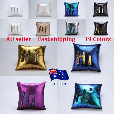 Reversible Sequin Two Toned Cushion Cover Home Decor Pillow Case Colour Changing