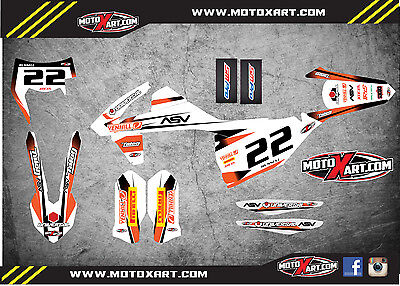 KTM EXC Series 2017 Full  Custom Graphic Kit - STORM STYLE stickers / decals