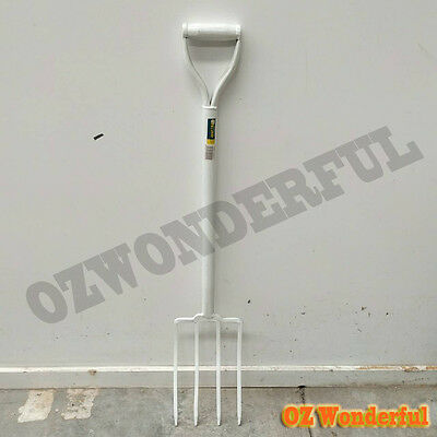 Brand New STEEL Garden Tool Short Handle shovel S501L White STEEL FORK