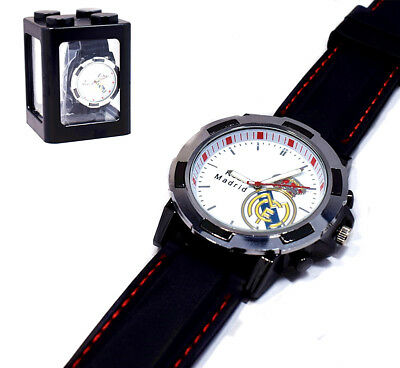 Real Madrid Soccer Football Fans Boys Watch Champions League.Ver New In Box